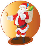 Santa Claus. And happy new year Stock Photo