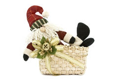 Santa Claus. Lying in a basket Royalty Free Stock Photo