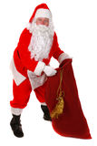 Santa Claus. Standing up on white background Stock Image