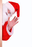 Santa Claus. Santa waving to children isolated on white Stock Photo