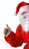 Santa Claus. Finger up as background Royalty Free Stock Images