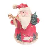 Santa Claus. Figurine of Santa Claus isolated on white Stock Image