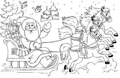 Santa Claus royalty free illustration