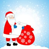 Santa Claus. With a bag of gifts Stock Images