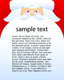 Santa Claus. Cute Santa Claus vector portrait with big beard, and copy space Royalty Free Stock Photos