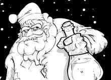 Santa claus. No gifts this year, cheerio vector illustration