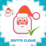 Santa Claus Accept Icon Arkivfoton