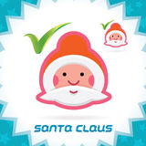 Santa Claus Accept Icon stock abbildung