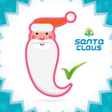 Santa Claus Accept Icon Royalty-vrije Stock Fotografie