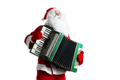 Santa Claus with accordion Stock Photo