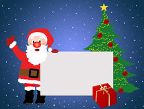 Santa Claus advertising background Royalty Free Stock Photo