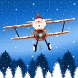 Santa Claus on airplane. Illustration of Santa Claus on airplane Stock Images