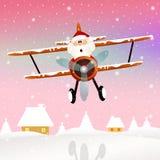 Santa Claus on airplane. Illustration of Santa Claus on airplane Stock Photos