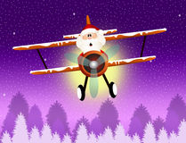 Santa Claus on airplane Royalty Free Stock Photo