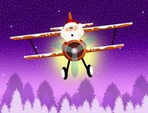 Santa Claus on airplane. Illustration of Santa Claus on airplane Royalty Free Stock Photo