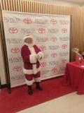 Santa Claus al gioco di hockey di dashers di Danville immagini stock