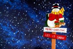 Santa Claus alla notte Immagini Stock Libere da Diritti