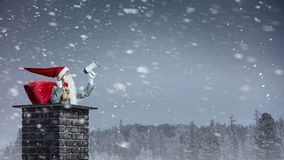 Santa Claus is already here . Mixed media Royalty Free Stock Photos