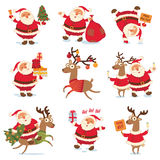 Santa Claus And Christmas Reindeer Stock Image