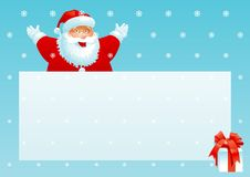 Santa Claus And Gift Box With Christmas Letter Royalty Free Stock Photography