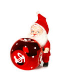 Santa Claus And Red Sphere Stock Image