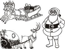 Santa Claus And Reindeer - Vector Illustration. Stock Photography