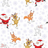 Santa Claus and  animals Royalty Free Stock Photography
