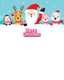 Santa Claus And Animals On Snow Photographie stock