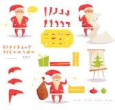 Santa Claus for animation. Creation set Stock Photo