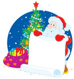 Santa Claus with announcement Royalty Free Stock Images