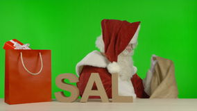 Santa Claus is Announcing that the SALE is Over stock footage