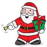 Santa Claus-Anruf Stockbild
