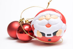 Santa claus ans balls Royalty Free Stock Photos