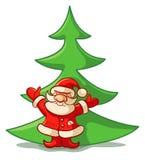 Santa Claus ans christmas tree Stock Photography