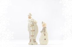 Santa Claus ans snowman decoration Stock Photo
