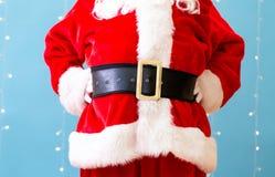 Santa Claus anseende royaltyfria foton