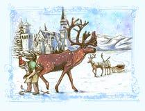 Santa Claus - antes do Natal ilustração royalty free