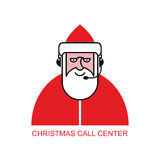 Santa Claus appellmitt Jultomten reagerar till påringningar kund Fotografering för Bildbyråer