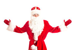 Santa Claus with arms wide open. Stock Images