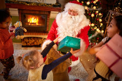 Santa Claus arrived Stock Images