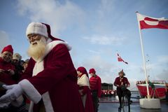 Santa Claus arrives in Aalborg Royalty Free Stock Photos
