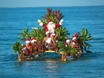 Santa Claus arrives at Wailea Beach Royalty Free Stock Image