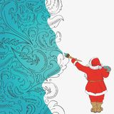 Santa Claus is an artist Royalty Free Stock Photo