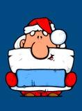 Santa Claus as an advertiser Royalty Free Stock Photo