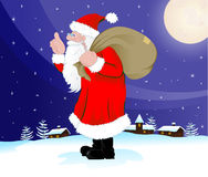Santa Claus as come to the Village Royalty Free Stock Photos