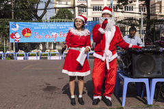 Santa Claus in Asia Royalty Free Stock Photo