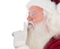 Santa Claus asking for quiet Stock Image