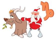 Santa Claus. Astrological Sign in the Zodiac Capricorn Stock Photo
