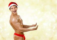 Santa Claus atractiva Foto de archivo libre de regalías