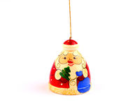 Santa claus attached to string. Tiny russian Santa Claus for Christmac tree royalty free stock images